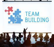 Team Building Group Work Concept Stockbild