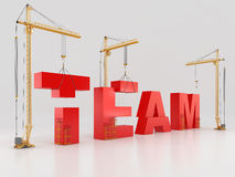 Team building. High resolution. 3D render Royalty Free Stock Images