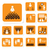 Team Building Icon for Business Concept Stock Photos