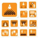 Team Building Icon para el concepto del negocio Fotos de archivo