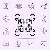 Team building icon. Universal set of web mix for website design and development, app development. On color background vector illustration