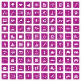 100 team building icons set grunge pink. 100 team building icons set in grunge style pink color isolated on white background vector illustration Royalty Free Stock Photography