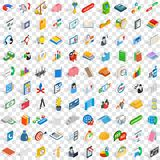 100 team building icons set, isometric 3d style Stock Photo