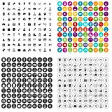 100 team building icons set vector variant. 100 team building icons set vector in 4 variant for any web design isolated on white Royalty Free Stock Photography