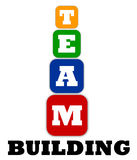 Team building logo Royalty Free Stock Photography