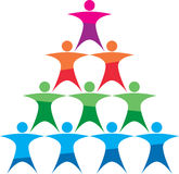 Team building logo Royalty Free Stock Photo
