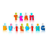 Team Building Title. With Paper Cut People Stock Images