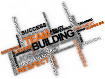 Team Building. Word cloud over white background Royalty Free Stock Photo