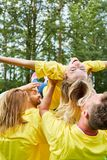 Team building workshop trains confidence Royalty Free Stock Photos
