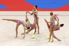 Team Bulgaria Rhythmic Gymnastics stock photos