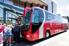 Team bus of the FC Bayern Munich football department royalty free stock photography