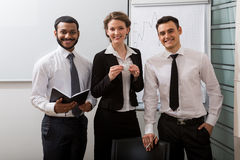 Team of business coaches. Group of young successful people royalty free stock photos