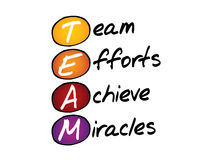 TEAM, business concept acronym Stock Images