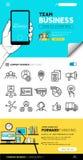 Team Business Concepts e iconos Foto de archivo libre de regalías