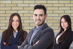 Team of business executives. Business, young team of business executives stock photo