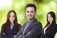 Team of business executives. Business, young team of business executives royalty free stock photos