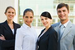 Team of business leaders Stock Photo