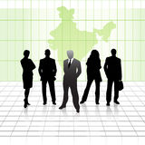 Team of business men. Front view of team of business men Stock Image