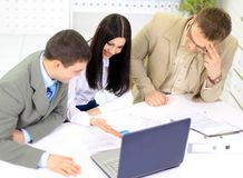 Team) of the business people Royalty Free Stock Images