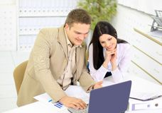 Team) of the business people Stock Image