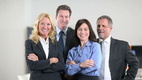 Team of business people cheering Stock Image
