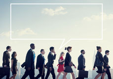 Team Business People Corporate Walking City Concept Royalty Free Stock Photos