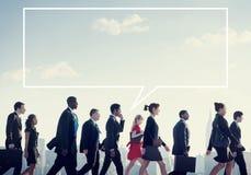 Team Business People Corporate Walking stadsbegrepp royaltyfria foton