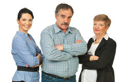 Team of business people in a row Stock Image