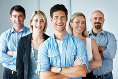 Team of business people together Royalty Free Stock Image