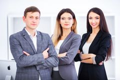 Team Of Business People Working In Office. Team Of Business People Working In Office Royalty Free Stock Images