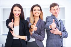 Team Of Business People Working In Office. Team Of Business People Working In Office Royalty Free Stock Photo