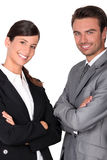 A team of business professionals stock image