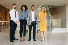 Team of business professionals royalty free stock photography