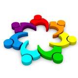 Team Business som möter 7 stock illustrationer