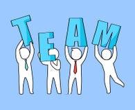 Team Businessmen avec l'illustration de vecteur de lettres illustration libre de droits