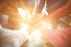Team of businesspeople forming hand stack Royalty Free Stock Images