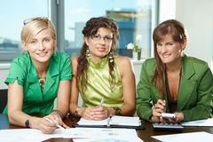 Team of businesswomen Stock Photo