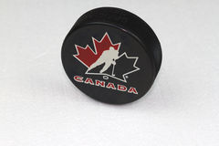 Team Canada Puck Royalty Free Stock Image
