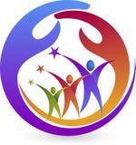 Team care logo Royalty Free Stock Photo