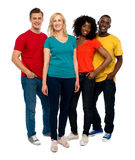 Team of casual people posing indoors Royalty Free Stock Photo