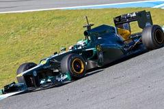Team Catherham F1, Heikki Kovalainen, 2012 Stock Images