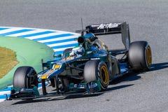 Team Catherham F1, Heikki Kovalainen, 2012 Royalty Free Stock Image