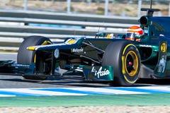 Team Catherham F1, Jarno Trulli, 2012 Royalty Free Stock Photos