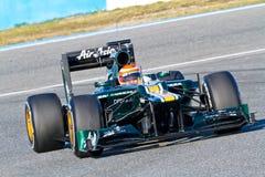 Team Catherham F1, Jarno Trulli, 2012 Royalty Free Stock Images