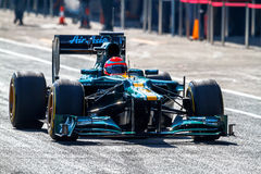 Team Catherham F1, Jarno Trulli, 2012 Stock Photography