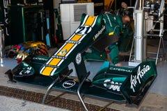 Team Catherham F1, Jarno Trulli, 2012 Stockbilder