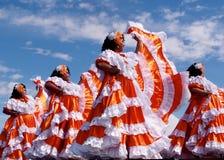 Team Of Central American Dancers al festival di eredità del ` s di Edmonton Fotografie Stock Libere da Diritti