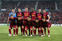 Team CFR Klausenburg in Champions League Stockfotografie