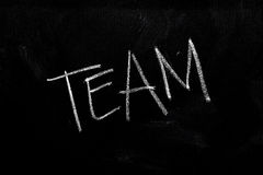 Team on Chalkboard Royalty Free Stock Photos