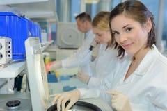 Team chemist in laboratory Royalty Free Stock Photos